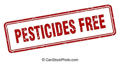pesticides free stamp. square grunge sign on white background