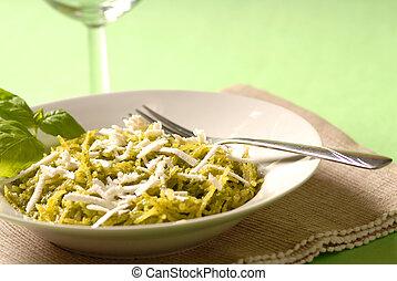 Pesto dinner - vegetarian lunch