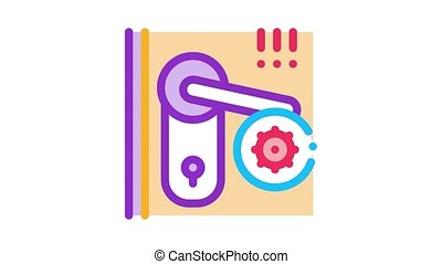 pests in keyhole Icon Animation. color pests in keyhole animated icon on white background