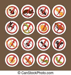 Caution, Warning, Danger, Hazard, Symbol Set