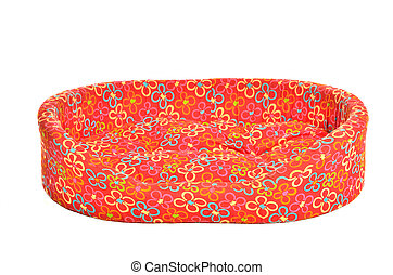 Pet bed - Red bed for pets isolated