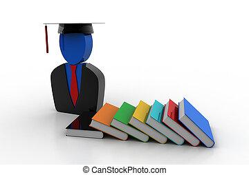 pet, boekjes , afgestudeerd