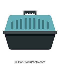 Pet carry case icon isolated - Pet carry case icon flat...