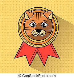 pet cat winner medal ribbon award