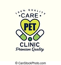 Buddy, pet club logo template. pet silhouette label illustration ...