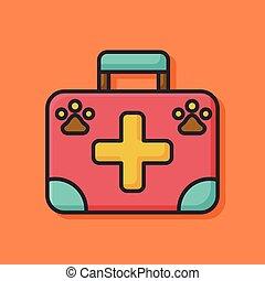 pet clinic box icon
