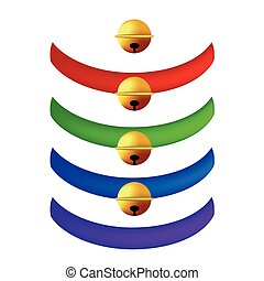 Pet Collar with Golden Ball Collection. Red, Green, Blue, Purple Belts. isolated on White Background.