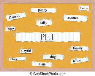 Pet Corkboard Word Concept