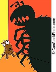 pet dog flea infestation vector illustration