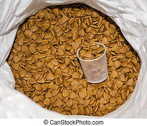 pet food in the bag