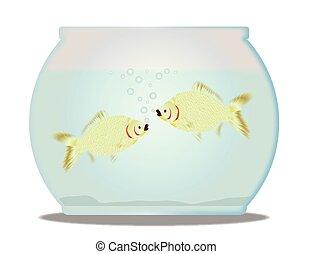 Pet Goldfish Bowl