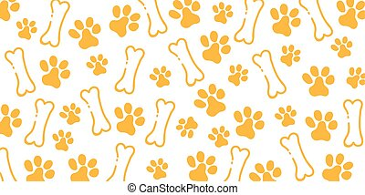 Pet Hand draw doodle background with cat or dog paws.