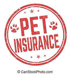 Pet insurance sign or stamp