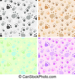 Pet legs' imprint seamless set