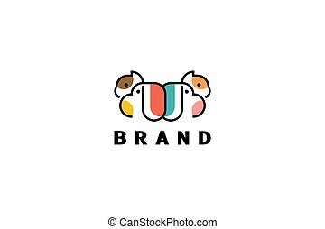 pet logo lineart