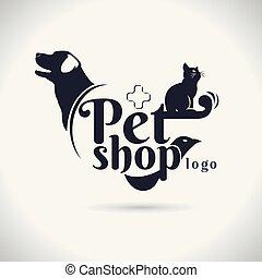 pet logo vector on white background