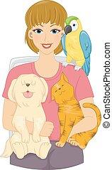 Pet Loving Girl