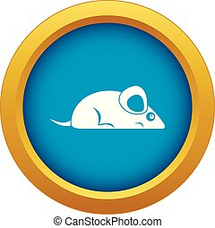 Pet mouse icon blue vector isolated