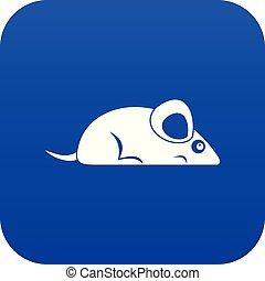 Pet mouse icon digital blue