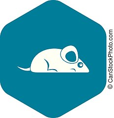 Pet mouse icon, simple style