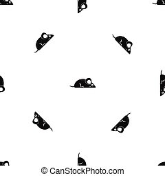 Pet mouse pattern seamless black
