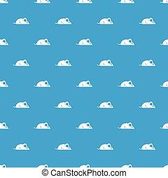 Pet mouse pattern seamless blue