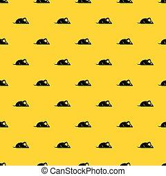 Pet mouse pattern vector