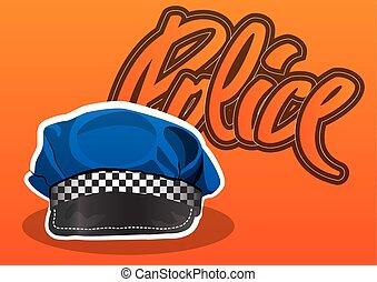 pet, politie, illustratie
