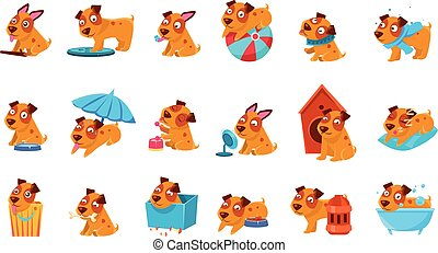Pet Puppy Everyday Activities Set