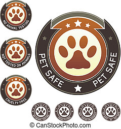 Pet safe or cruelty free label - Pet safe, cruelty free, and...