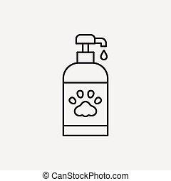 pet shampoo line icon