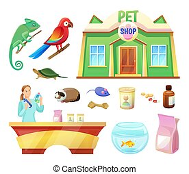 Pet Shop Animals and Products to Take Care of Them - Pet...