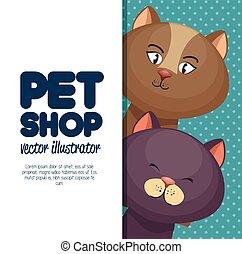 pet shop character cat banner