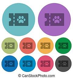 pet shop discount coupon color darker flat icons - pet shop...