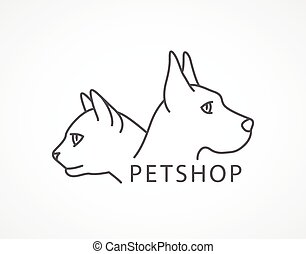 Pet Shop Illustration of an dog and cat