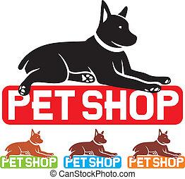 pet shop label (pet shop symbol, pet shop design, pet shop sign)