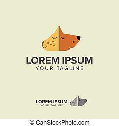 Pet shop logo design - symbol. Stylized modern design element. C