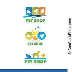 Pet shop logo icon design