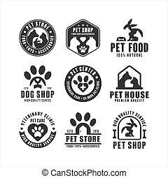 Pet shop vector design logo collection