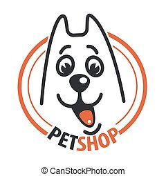 Pet shop with a dog head.
