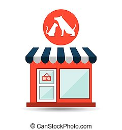 pet shop with vet dog and