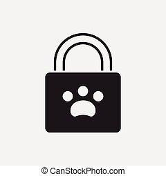 pet shopping bag icon