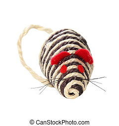 Pet toy closeup isolated on white background