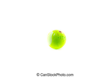 Pet toy isolated on white background - Green ball pet toy...