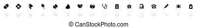 Pet Vet - Flat Vector Icons