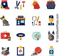 Pet Vet Icons Set