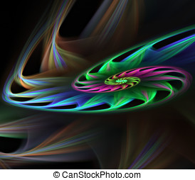 Petal Spiral Abstract - Abstract Background - Layered,...