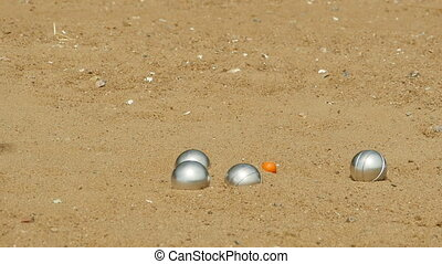 petanque game on the beach - petanque leisure game on the...
