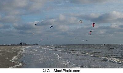 pete, rue., kit, plage, surfeur