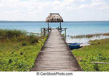 peten, 호수, flores, 과테말라